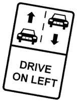 """fahren auf der """"falschen"""" Seite der Straße"""